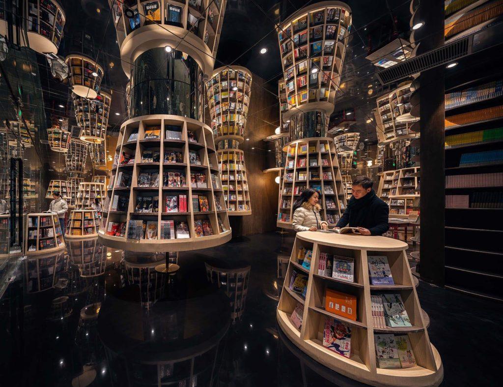 Lobby der Buchhandlung in China