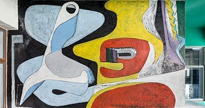Wandgemälde von Le Corbusier