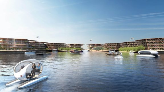 Geht die Stadt der Zukunft baden?