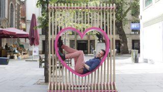 Stadtmöbel: Entwurf Love Without Borders von Armor Gutiérrez Rivas, Atelier La Juntana, Foto: London Festival of Architecture, Agnese Sanvito