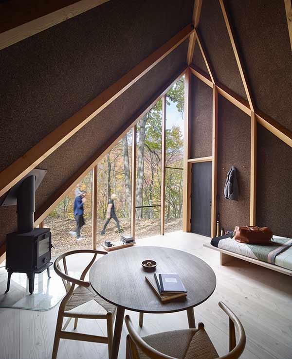 Hüttenarchitektur: Hütte A45 von Innen