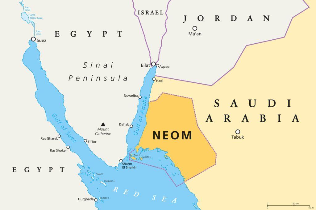 Neom in Saudi Arabien, fast so groß wie Belgien