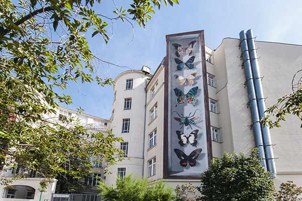 Kunstwerk des Street Artists Mantra