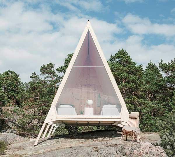 Hütte Nolla von Designer Robin Falck