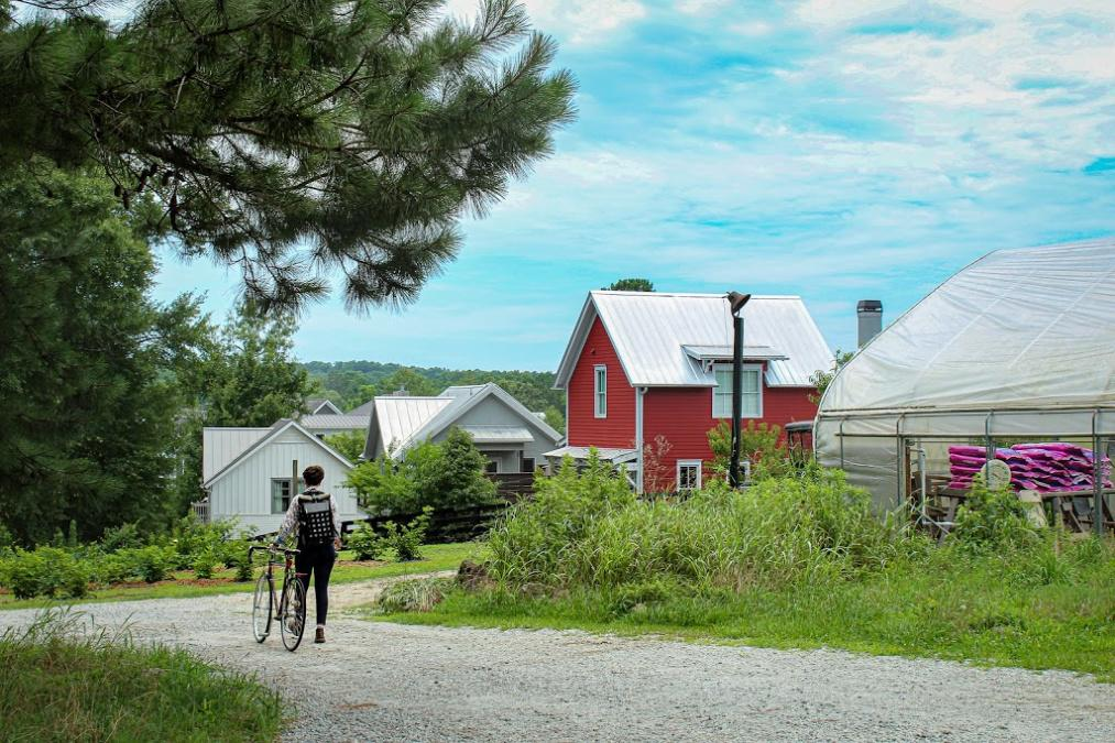 Farmen, Grün und hübsche Häuser – die meisten davon wurden und werden von Serenbes eigenem Architekturbüro entworfen und gebaut. (Foto: Stevie Seay)