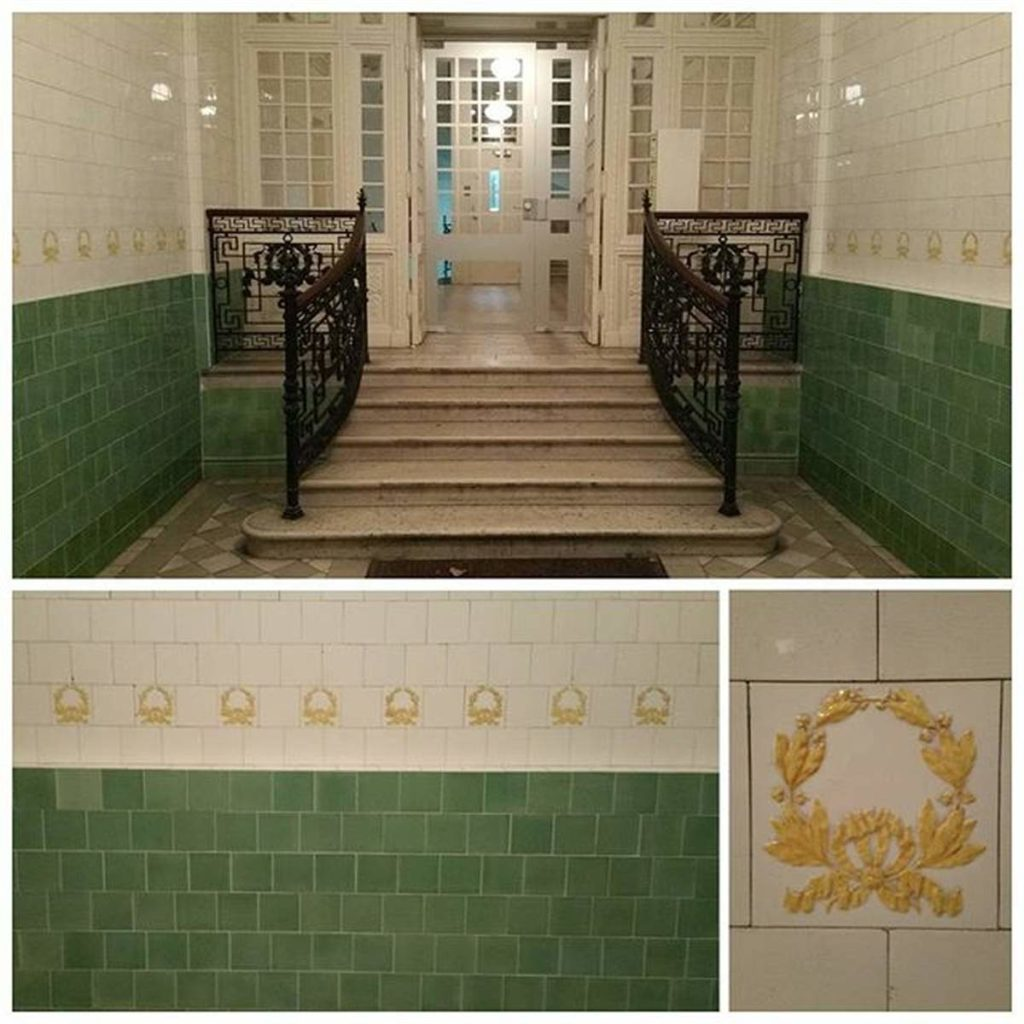 Reproduced tiles in historic building (Photo: Schleidt)