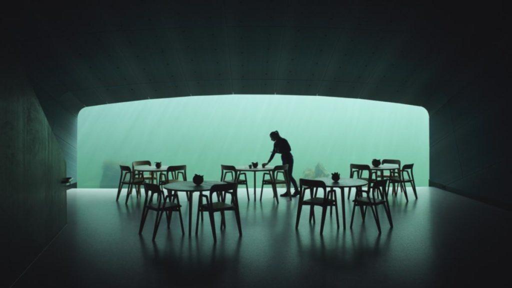 """Under"" Unterwasser Restaurant in Norwegen © Ivar Kvaal"