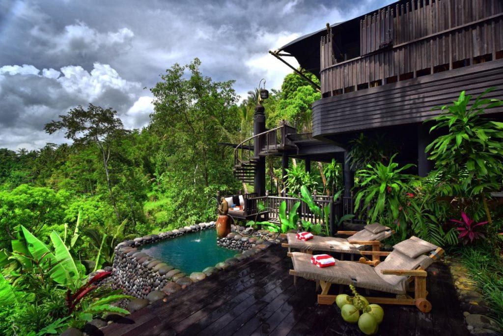 Prix Versailles für äußeres Hoteldesign: Das von Bensley gestaltete Capella Ubud in Bali (Foto: Bensley)