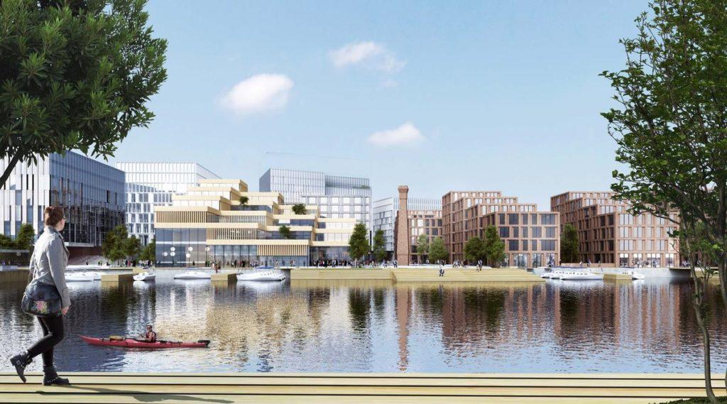 Der Masterplan des dänischen Büros Henning Larsen für die Belfast Waterside verspricht Lebensqualität pur. (Bild: Henning Larsen)