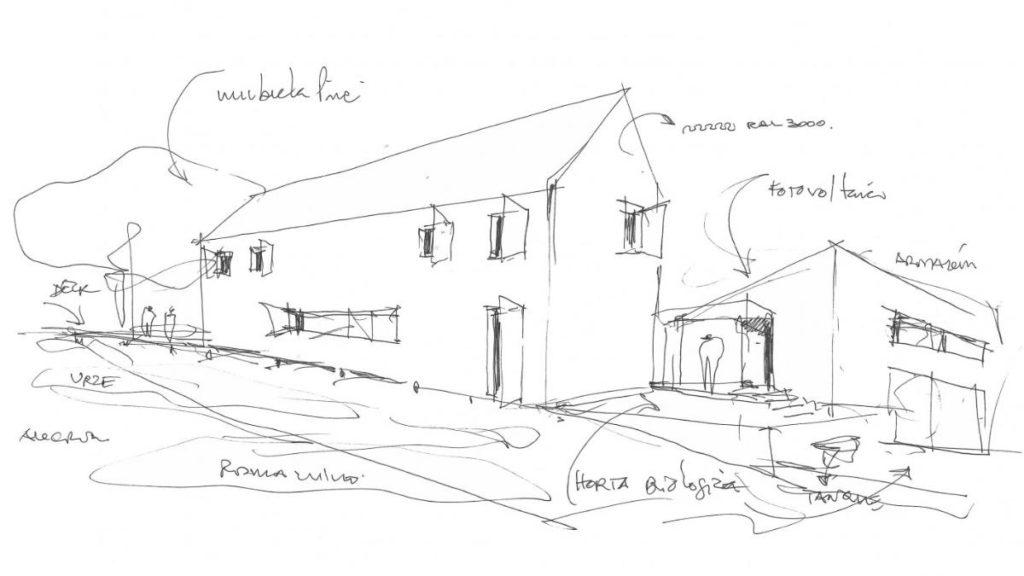 Plan von Architekt De Andrade