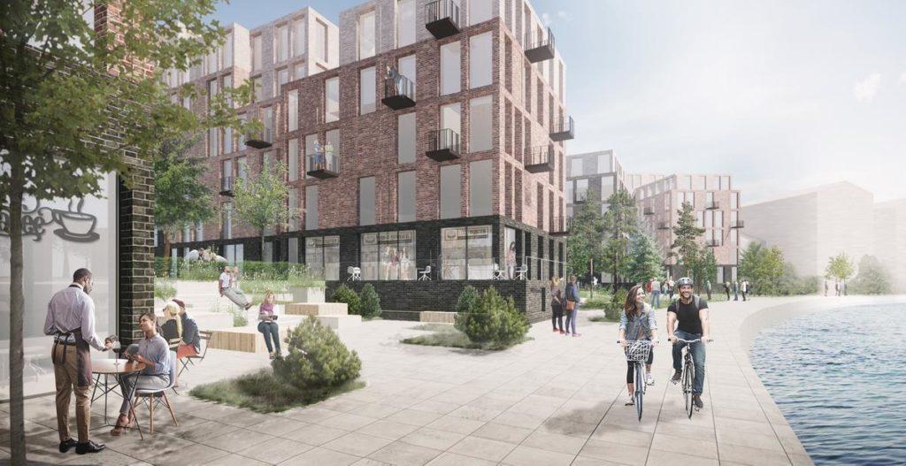 Das Design der Anlage ist darauf ausgerichtet, die Outdoor-Saison an Belfasts Ufer zu verlängern. (Bild: Henning Larsen)