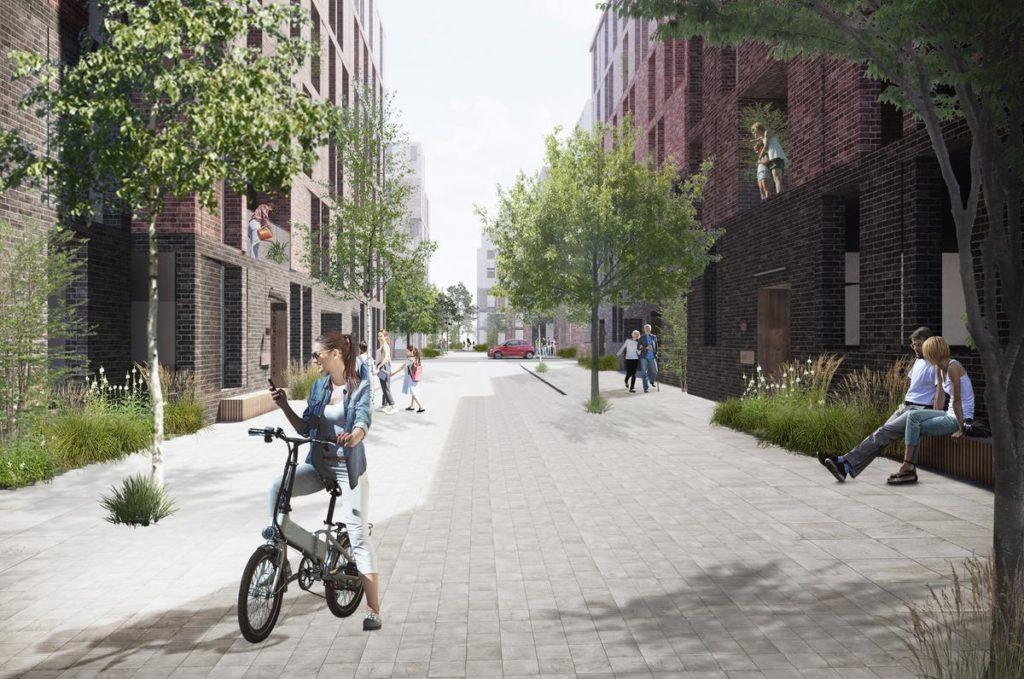 Durchdacht und lebenswert: Im Projekt Belfast Waterside sind 675 neue Wohnungen vorgesehen – leistbare Einheiten und sozialer Wohnbau inklusive. (Bild: Henning Larsen)