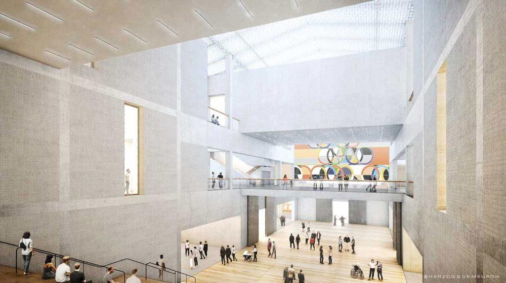 Innenansicht des Museums der Moderne