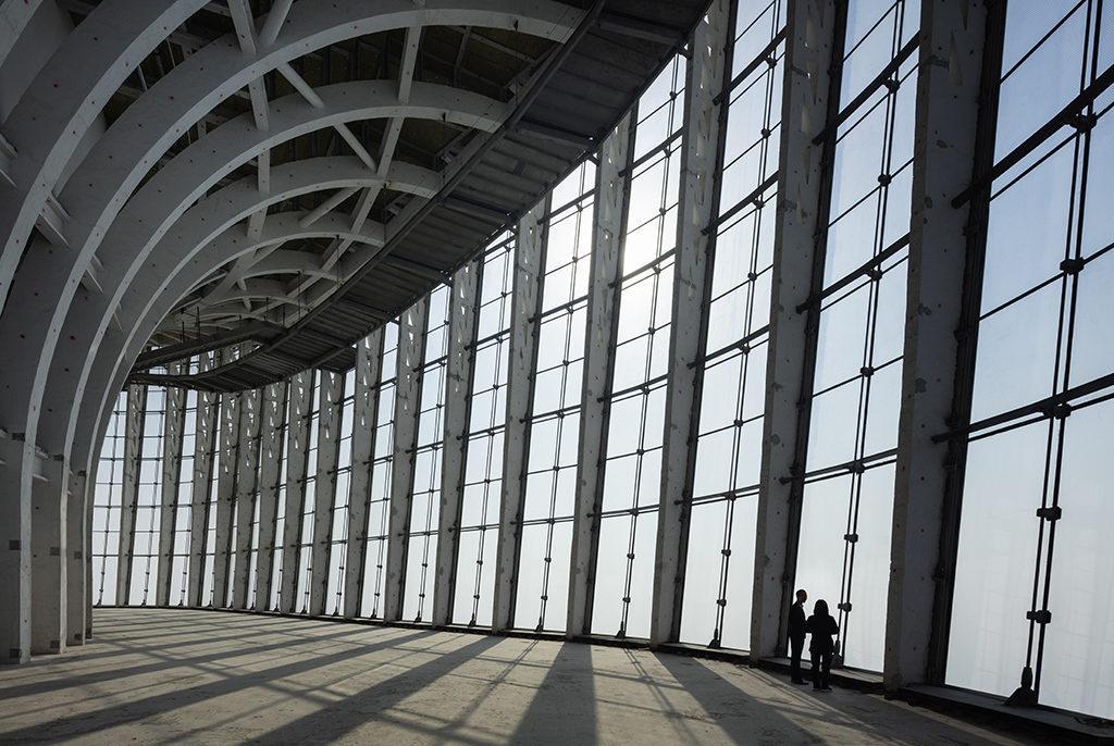 Hohe Räume, hohes Haus: Der neue Turm beeindruckt auch von innen. (Foto: HG Esch)