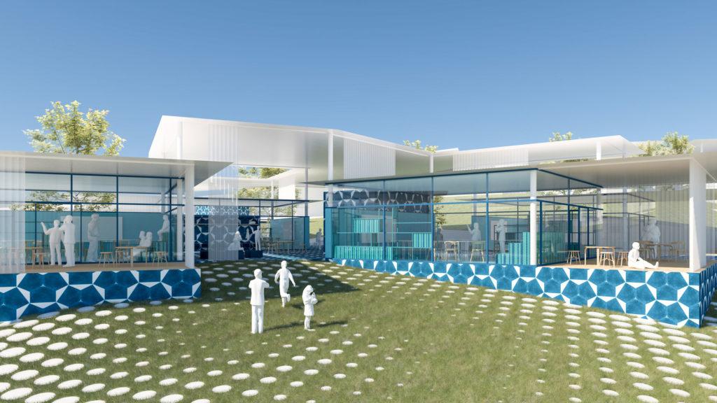Moderner Schulbau in Cuenca, entworfen von PPAG Architects (Bild: PPAG)