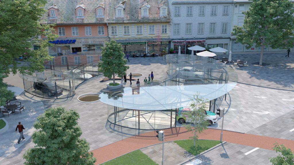Einfahrtsvariante Smart Urban Park System SUP