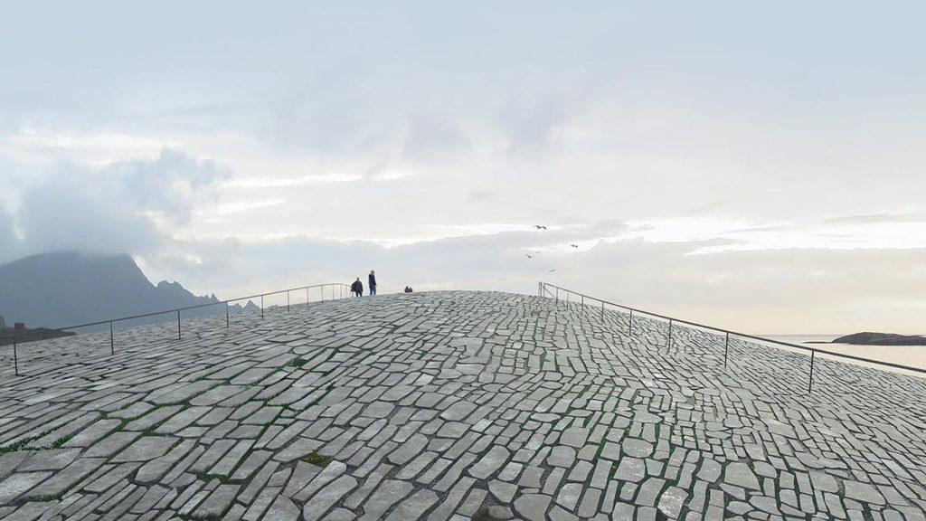 Vom Dach aus werden Besucher freien Blick aufs Meer, die Berge, die Mitternachtssonne oder das Nordlicht genießen können. (Grafik: MIR)