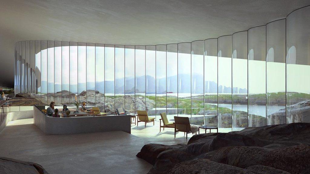 """""""The Whale"""" von innen: Gigantische Ausblicke aus dem """"Bauch"""" des architektonischen Wals. (Grafik: MIR)"""