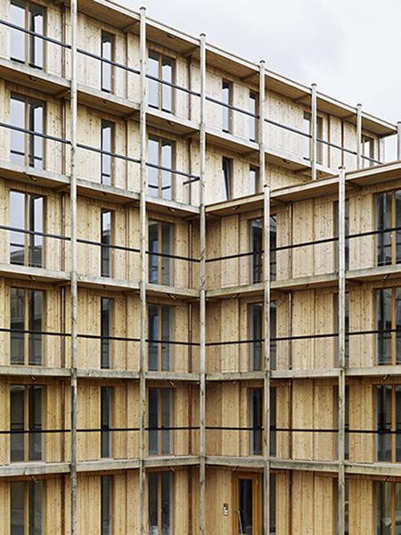 Hagmann-Areal: Gebäudegliederung mit der Topografie. (Foto: Georg Aerni)