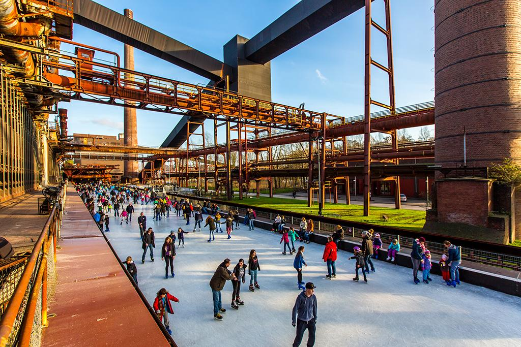 Zeche Zollverein, Eislaufplatz