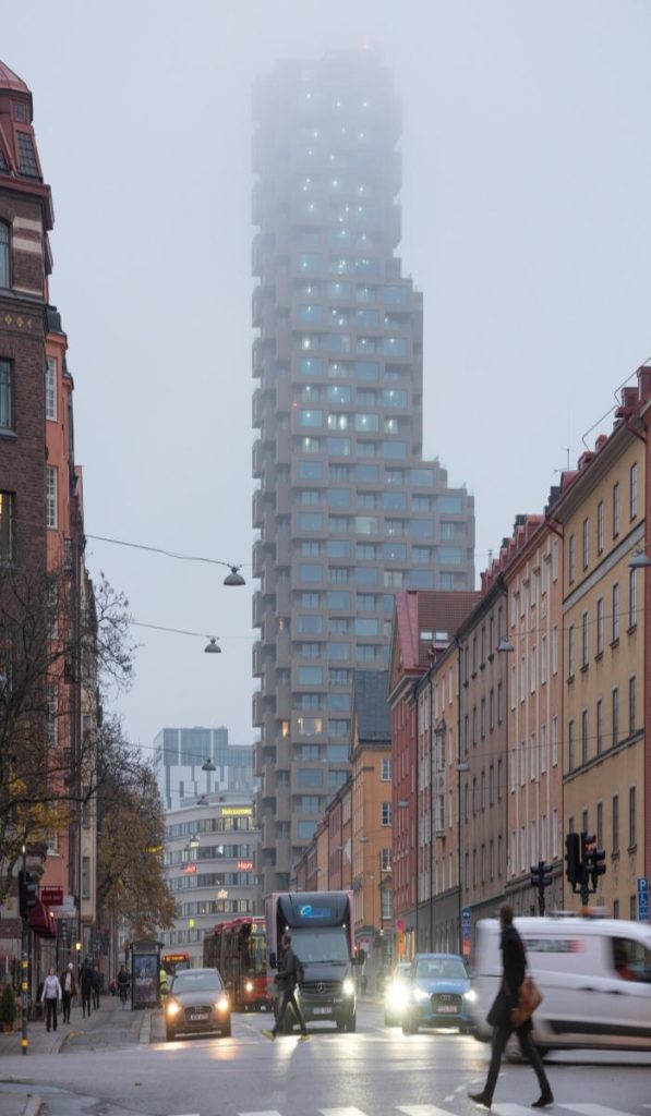 Norra Tornen extend high into the sky