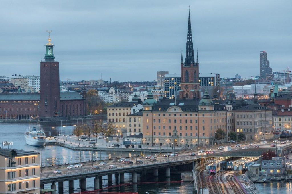 Norra Tornen als Tor zu Stockholm