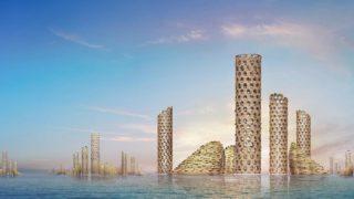 Die Zukunft der Stadt wächst vom Meer in den Himmel