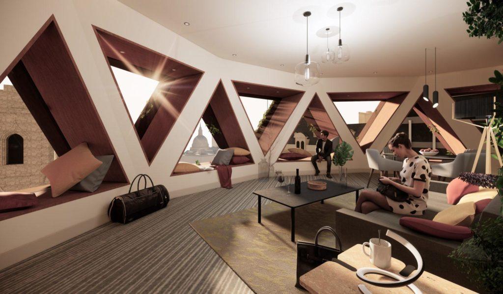 Lounge café in Citicape House