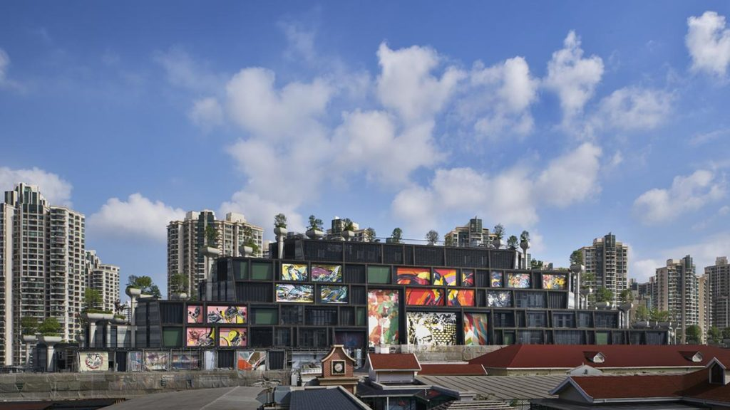 """""""1000 Trees"""" as seen from the streeet: flat but colourful. (Photo: Qingyan Zhu)"""
