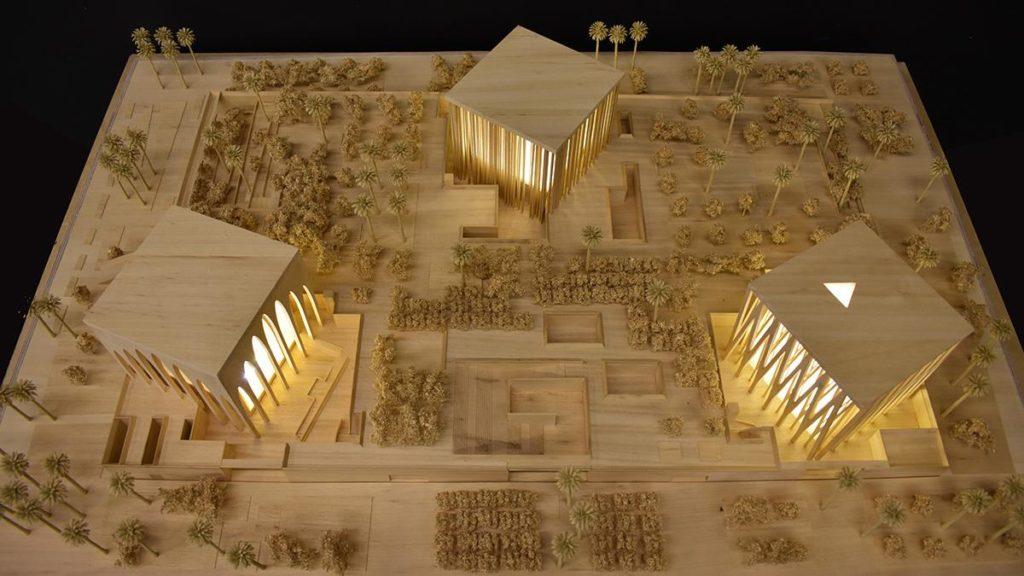 "Architektur mit historischer Bedeutung: Sir David Adjayes ""Abrahamic Family House"" (Bild: Adjaye Associates)"