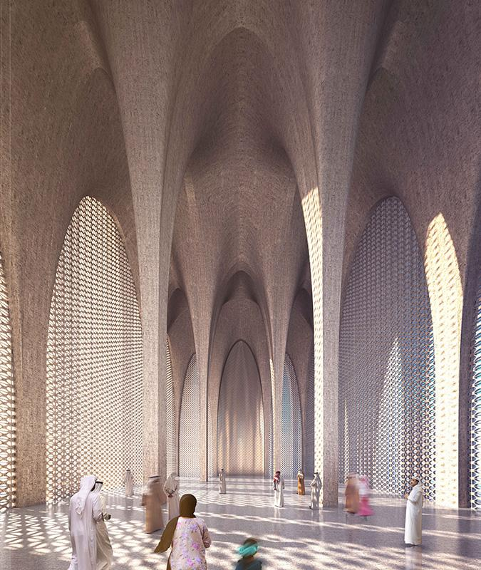 Der Innenraum der Moschee (Bild: Adjaye Associates)