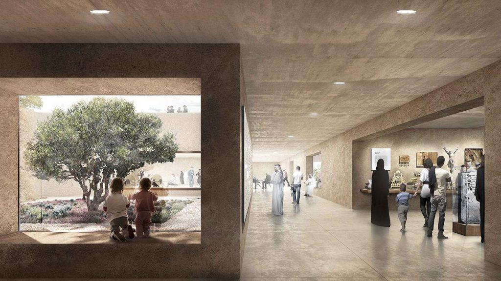 Das Besucherzentrum des Abrahamic Family House (Bild: Adjaye Associates)