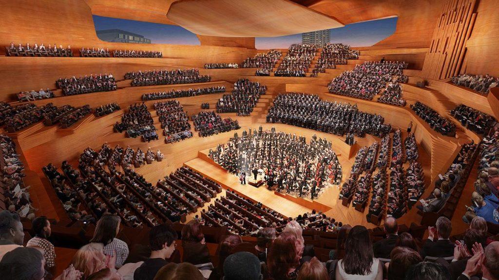 """Herzstück des Entwurfs für das """"London Centre for Music"""": Die Konzerthalle. (Bild: Diller Scofidio and Renfro)"""