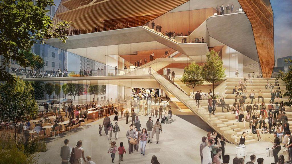 """Große Erwartungen: Schon Plaza und Entree des """"London Centre for Music"""" sollen Lust auf Kulturgenuss wecken und zum Besuchermagneten der Kulturmeile werden. (Bild: Diller Scofidio and Renfro)"""