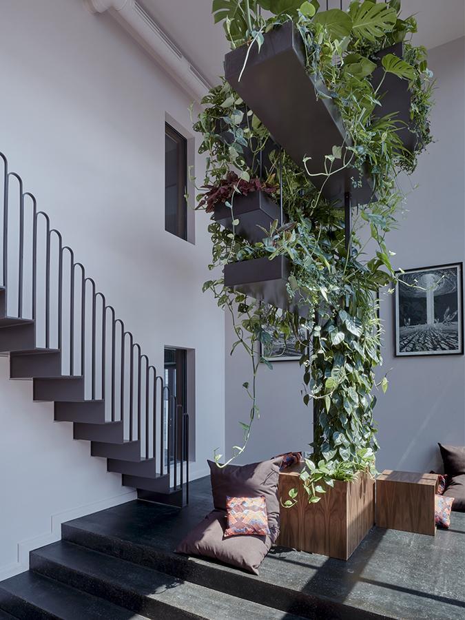 """Verbindende Treppen, wohnliches Ambiente: Die """"Lindenberg""""-Idee, von Franken Architekten umgesetzt. (Foto: Steve Herud)"""