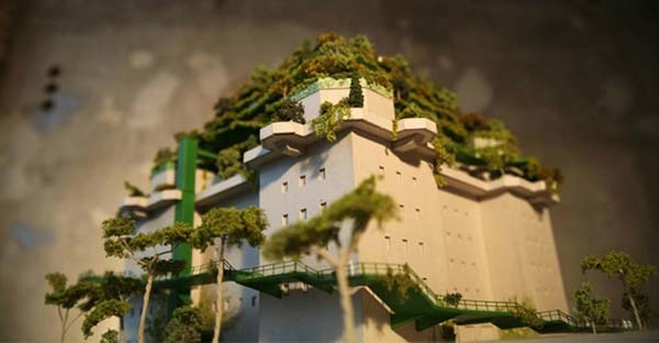 Neugestaltung des Kriegsdenkmals schafft einen Garten in der Vertikalen