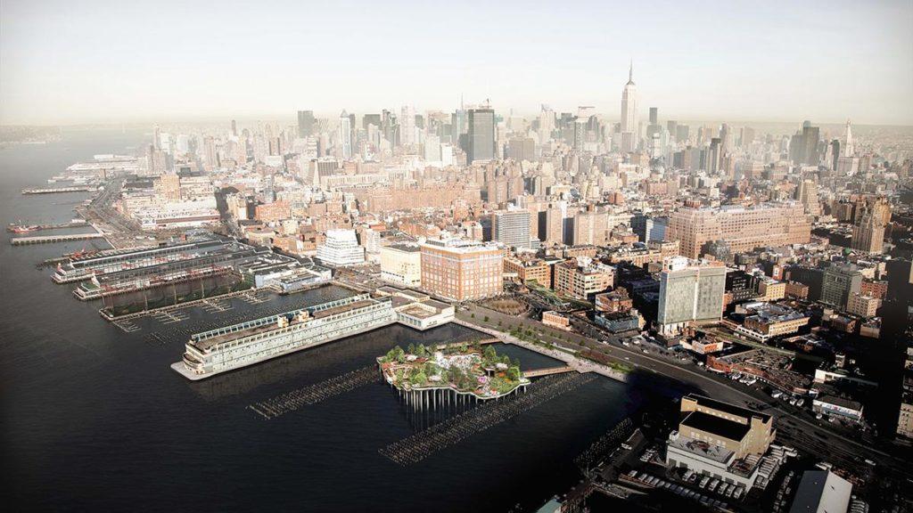 """""""Little Island"""" wird eine grüne Oase an Manhattans Ufer setzen. (Bild: Heatherwick)"""