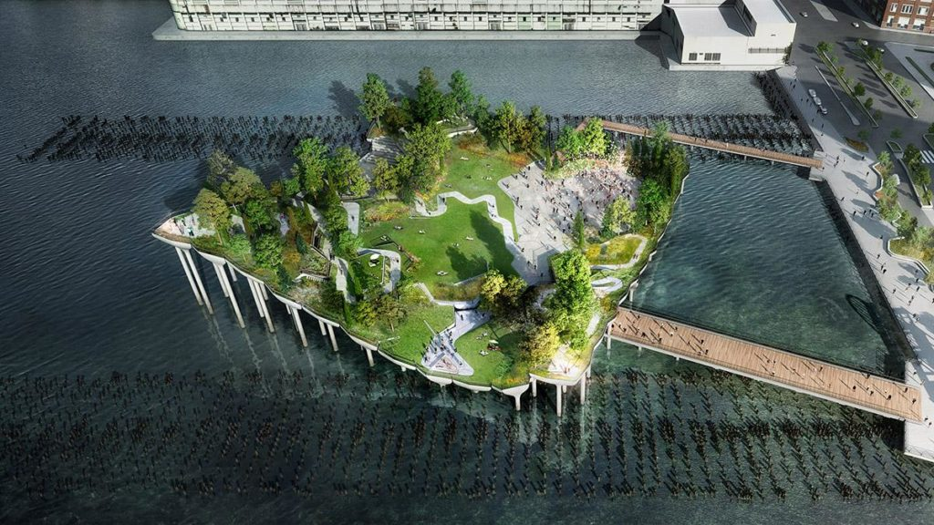 "New York bekommt sein ""Little Island"" (Bild: Heatherwick)"