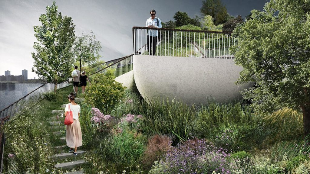 """""""Little Island"""" ist als ideale Freizeitanlage geplant. (Bild: Heatherwick)"""
