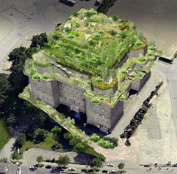 Rendering des künftigen Bunker-Aufbaus