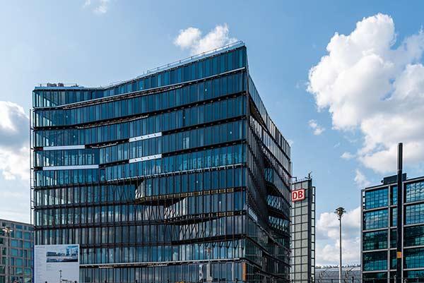 Die Doppel-Fassade des Cube Berlin vor der Fertigstellung