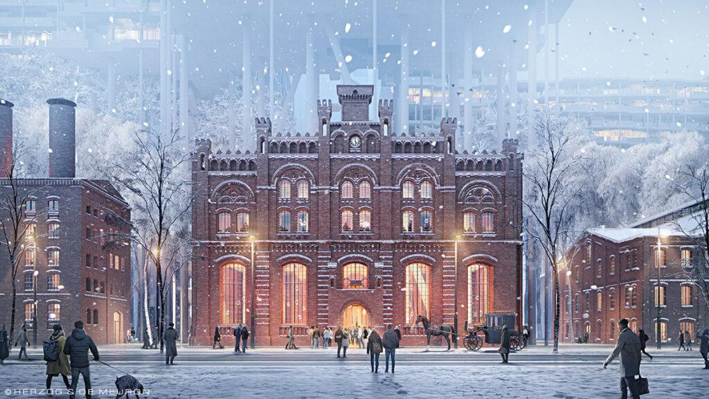 "Badaevskiy Brauerei: Gebäude ""2"" wird originalgetreu neu aufgebaut. (Bild: Herzog & de Meuron)"