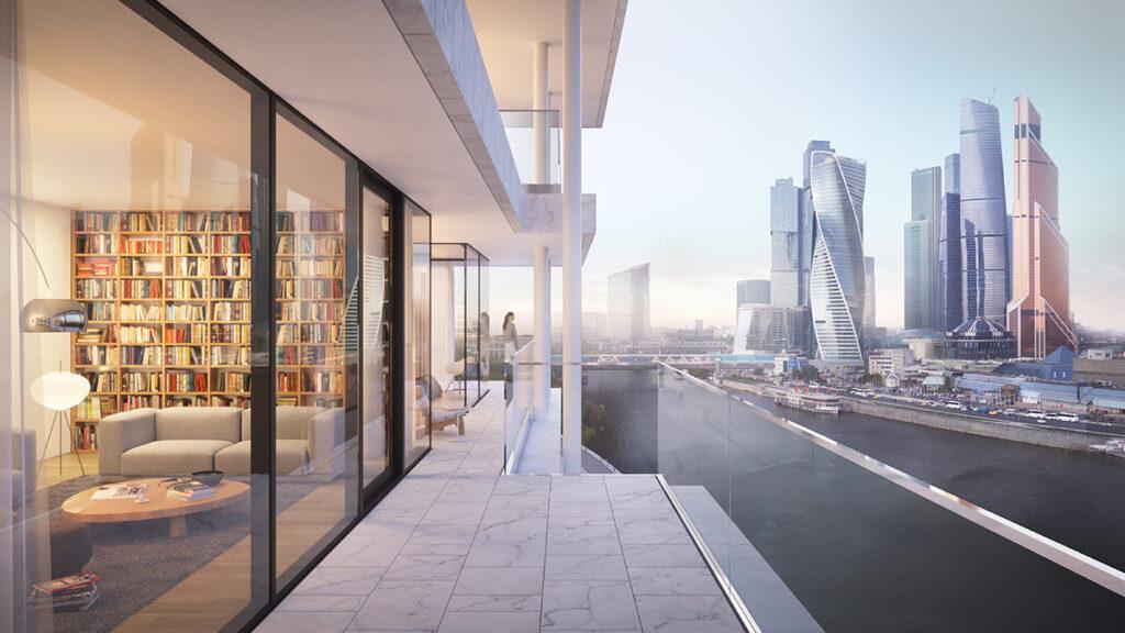 Top-Aussicht: Wohnungen im Neubau werden Balkone haben. (Bild: Herzog & de Meuron)