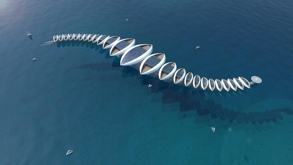 """Zukunfts-Idee """"Wohnen auf See"""" (Bild: Gianluca Santosuosso)"""
