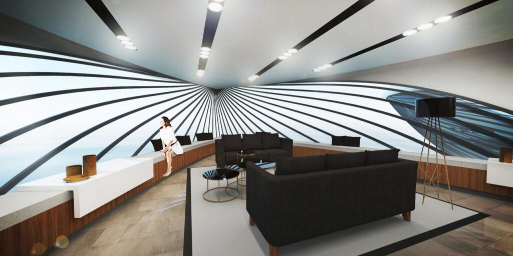 Luxuriöses Wohnen auf See: Executive Suite der HYPERcay. (Bild: Santosuosso)