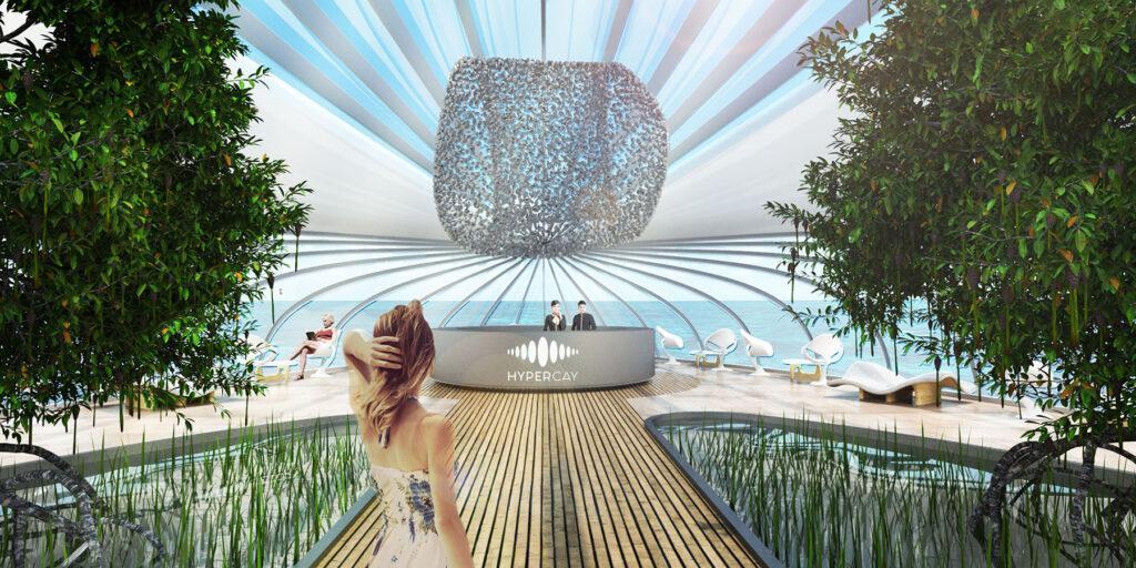 Die schwimmenden Gärten der HYPERcay sind Teil des künstlichen Ökosystems, das Architekt Gianluca Santosuosso entworfen hat. (Bild: Santosuosso)