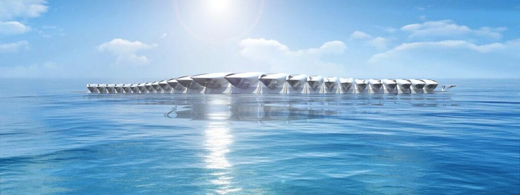 Wohnen auf See: Zukunft-Idee HYPERcay. (Bild: Santosuosso)
