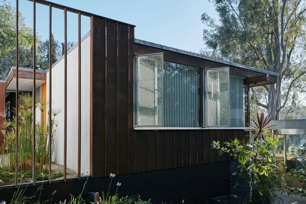 Außenansicht des Ohara House in Silver Lake, Los Angeles (1961 errichtet) (Foto: David Schreyer, 2017)