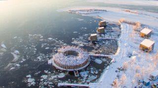 Arctic Bath, Luftaufnahme
