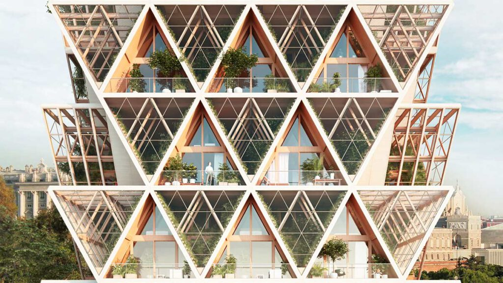 Die vertikale Kleingartensiedlung vom Architekturbüro Precht